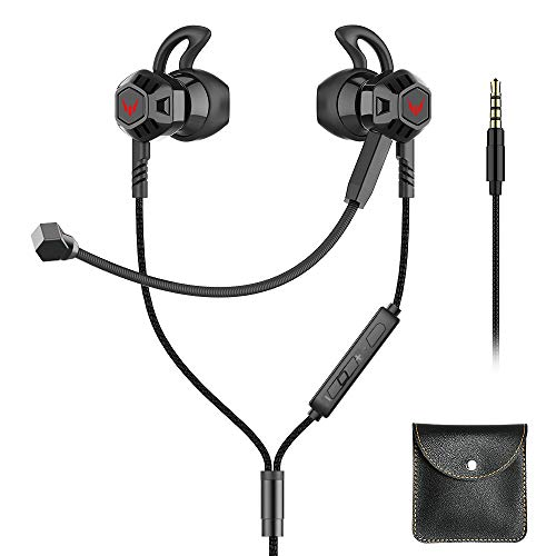 Gaming Earbuds with Microphone, Noise Cancelling Stereo Bass...
