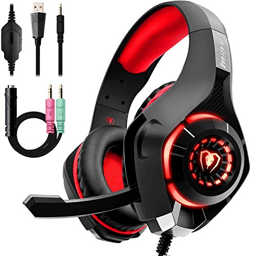 Beexcellent Gaming Headset with Noise Canceling mic, PS4...