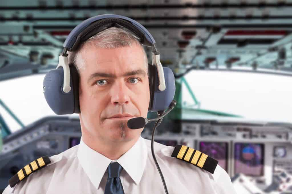 Airline pilot on board